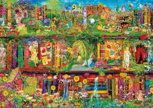 Puzzle 1500 dielne - Puzzle Genuine Záhradná knižnica Educa 1500 dielov_0