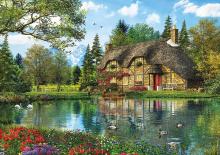 Puzzle 2000 dielne - Puzzle Genuine Lake view cottage Educa 2000 dielov_0