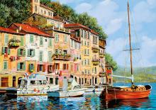 Puzzle Genuine La Barca rossa alla Calata, Guido Borelli Educa 2000 dílů od 13 let