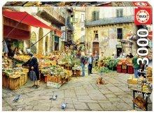 Puzzle Genuine La vucciria market, Palermo Educa 3000 delov od 15 leta