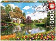 Puzzle Genuine Lakeside Cottage Educa 6000 db 15 évtől