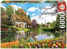 Puzzle Genuine Lakeside Cottage Educa 6000 delov od 15 leta
