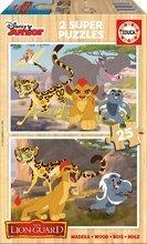 Drevené puzzle pre deti Leví Kráľ Educa 2x25 dielov