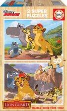 Drevené puzzle pre deti Leví Kráľ Educa 2x50 dielikov od 5 rokov