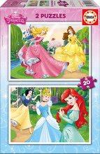 Detské puzzle do 100 dielov - Puzzle Disney Princezné Educa 2x 20 dielov_0