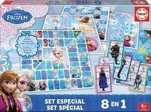 Spoločenské hry Frozen Špeciál set ôsmich hier 8v1 Educa v angličtine od 4 rokov