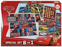 Jocuri de societate Maşini Special set pentru opt jucători 8in1 Educa în limba engleză de la 4 ani