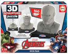 Puzzle 3D Sculpture Marvel Avengers Iron Man Educa 160 dílů od 6 let