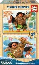 Fa puzzle Vaiana Disney Educa 2x25 darabos 4 évtől