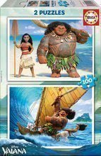 Puzzle Disney Vaiana Educa 2x100 buc de la 5 ani