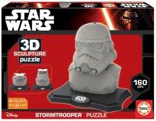 Puzzle 3D Sculpture Star Wars Stormtrooper Educa 160 dielov od 6 rokov
