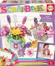 Set creativ Scrapbook Grădina mea de flori Educa pentru mânuţe îndemânatice de la 6 ani