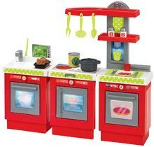 Obyčejné kuchyňky - Kuchyňka 3-Modules French Écoiffier 3dílná červeno-stříbrná s 21 doplňky od 18 měsíců_0