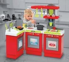 Obyčejné kuchyňky - Kuchyňka 3-Modules French Écoiffier 3dílná červeno-stříbrná s 21 doplňky od 18 měsíců_3