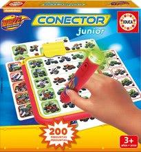 Společenská hra Blaze auta Conector junior Educa 40 karet a 200 otázek a inteligentní pero