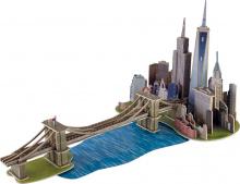 Puzzle fából 3D Monument Manhattan Dream Educa 160 db 6 évtől