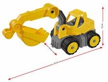 Dětský bagr Power BIG pracovní stroj délka 24 cm od 2 let žlutý