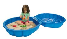 Pískoviště pro děti Mušle BIG dvoudílné objem 100 litrů od 12 měsíců modré