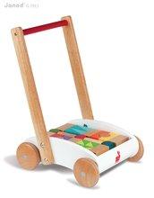 Staré položky - Chodítko so stavebnicou Wood Mini Buggy Janod 33 kociek_0