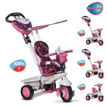 Trojkolka pre deti smarTrike Dream Team Silver-Pink Touch Steering 4v1 s tlmičom od 10 mesiacov strieborno-ružová