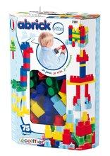 Detská stavebnica Maxi Abrick Écoiffier modrá krabica od 12 mesiacov 75 dielov