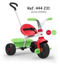 Trojkolka Be Fun Smoby zeleno-červená s vodiacou tyčou a voľnobehom od 15 mesiacov 444231