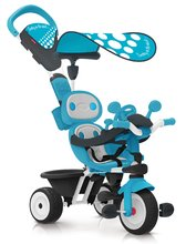 Trojkolka modrá Baby Driver Smoby nastaviteľná a s ovládaním predného kolesa a volantom od 10 mesiacov 740601
