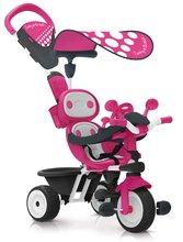 Trojkolka ružová Baby Driver Smoby nastaviteľná a s ovládaním predného kolesa a volantom od 10 mesiacov 740600