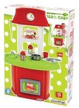 Obyčejné kuchyňky - Kuchyňka 100 % Chef Italian Écoiffier s 13 doplňky červeno-zelená od 18 měsíců_2