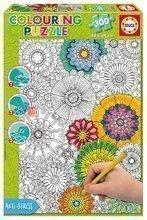 Puzzle Omaľovánky Big Beautiful Blossoms 23 Doodle Art Educa 300 dielov od 11 rokov