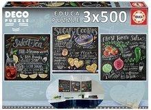 Puzzle Deco Lily & Val Educa 3x500 delov od 11 leta