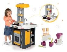 Set kuchynka pre deti Tefal Studio Smoby so zvukmi a raňajková sada s kávovarom a toasterom
