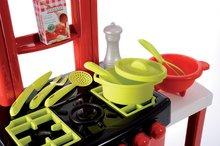 Običajne kuhinje - Kuhinja 100% Chef Pro Cook Écoiffier s pultom in 15 dodatki rdeča od 18 mes_0