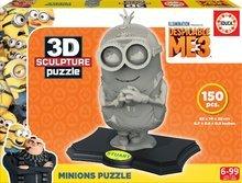 Puzzle 3D Sculpture Minions Educa 150 de piese de la 6 ani