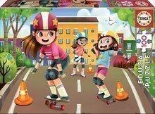 Detské puzzle Skateboard a korčule Educa 100 dielov od 6 rokov