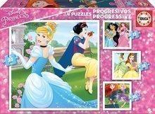 Detské puzzle Disney Princezné Educa progresívne 12-16-20-25 dielov