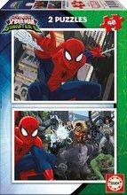 Puzzle pre deti Spiderman Educa 2x48 dielov od 5 rokov