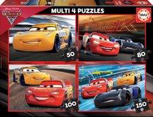 Puzzle Cars3 Multi 4 Educa 50-80-100-150 dílů od 7 let