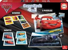Puzzle Cars 3 SuperPack 4in1 Educa 2xdomino, puzzle, pexeso