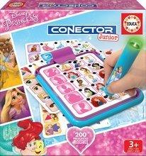 Joc de societate Prinţese Disney Conector Junior Educa 40 de cărţi şi 200 de întrebări cu stilou inteligent
