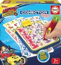 Társasjáték Mickey and the roadster racers Conector junior Educa 40 kártya és 200 kérdés és intelligens toll