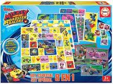 Detské spoločenské hry Mickey Roadster Racers 8 v 1 Special set Educa od 4 rokov