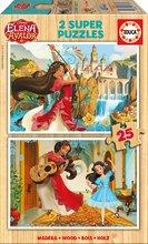 Drevené puzzle Elena z Avaloru Disney Educa 2x25 dielov od 4 rokov