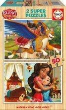 Puzzle Elena z Avaloru Disney Educa 2x50 dielov drevené od 5 rokov