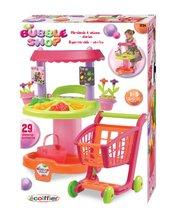 Supermarteturi pentru copii - Stand Bubble Shop Écoiffier cu legume, flori, cărucior de cumpărături şi cu 29 de accesorii de la 18 luni_0