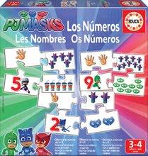Naučná hra Učíme se Čísla PJ Masks Educa s obrázky a počty 40 dílů