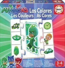 Naučná hra Učíme se Barvy PJ Masks Educa s obrázky a barvami 42 dílů