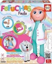 Păpuşă Fofuchas Paula medic veterinar Educa Îmbrac-o singură de la 6 ani