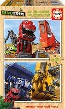 Dřevěné puzzle pro děti Dinotrux Educa 2x16 dílů od 4 let