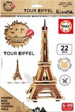 Drevené puzzle 3D Tour Eiffel Mini Monument Educa 22 dielikov od 6 rokov